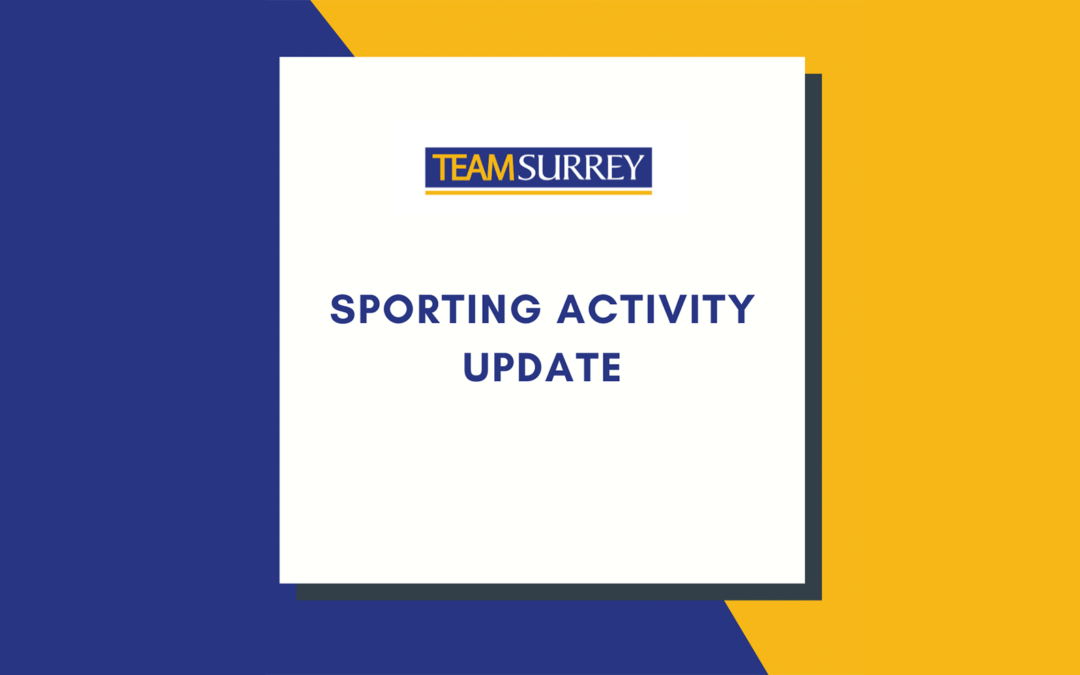 Covid-19: Sporting Activity Update