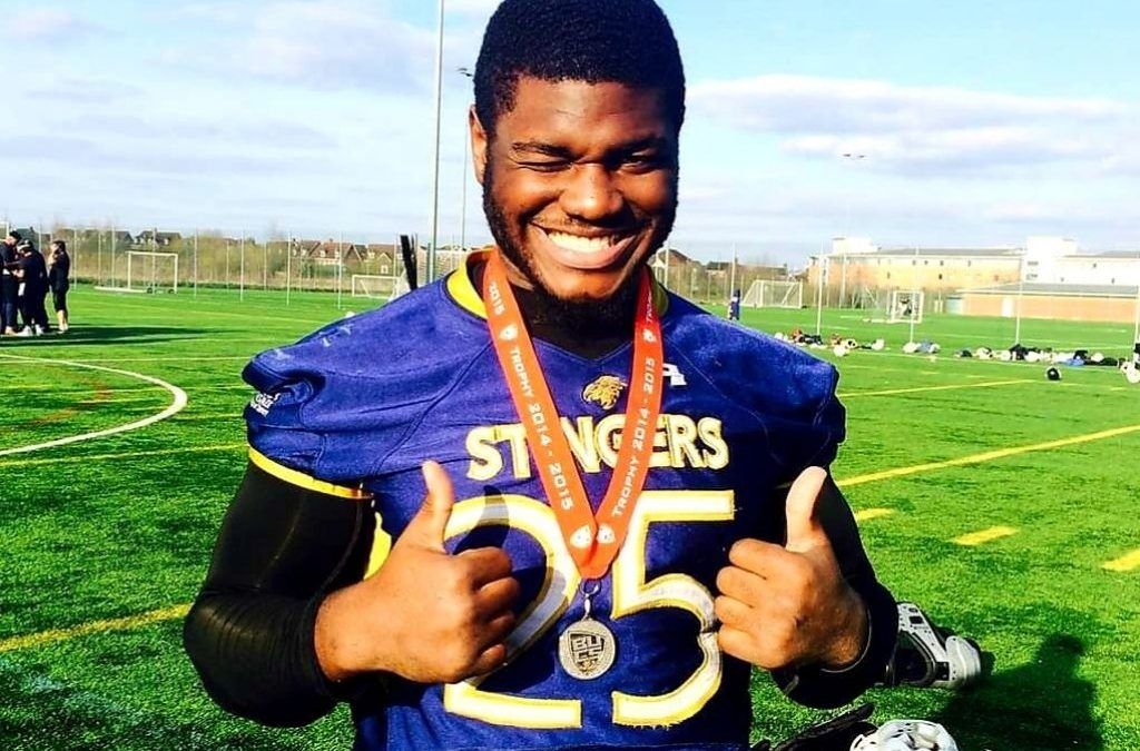 Former student David Izinyon earns Canadian Football League draft!